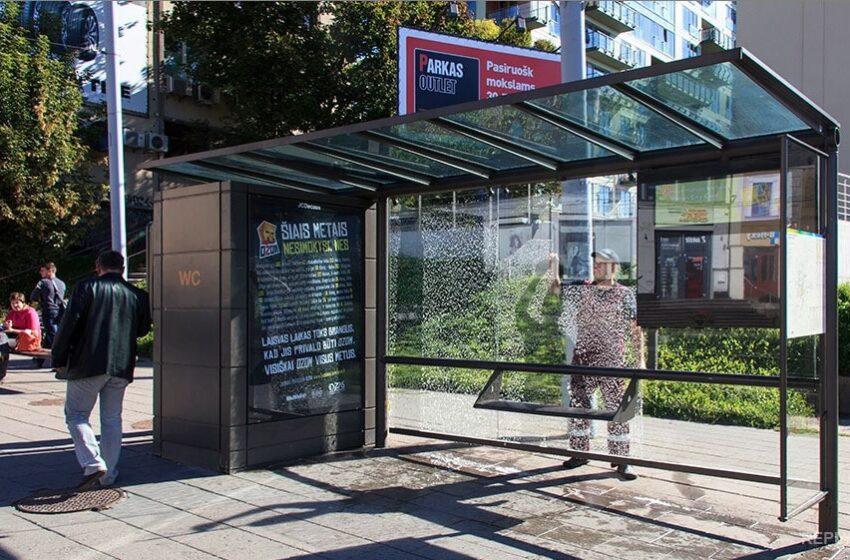 В столице был реализован пилотный проект по установке системы безопасности на остановках социального транспорта.